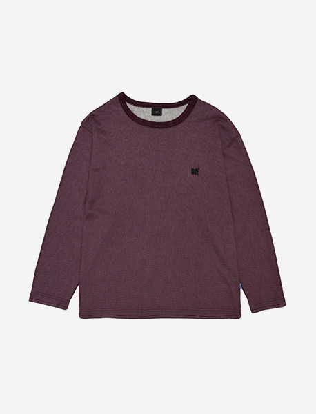 TAG 2TONE LONGSLEEVE - PURPLE brownbreath