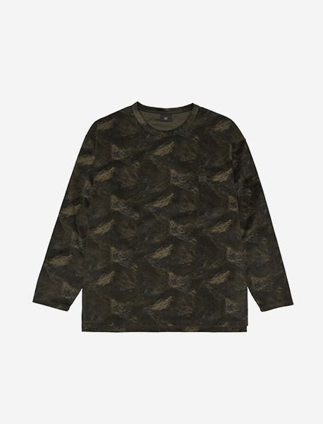 TAG PATTERN LONGSLEEVE - GREEN brownbreath
