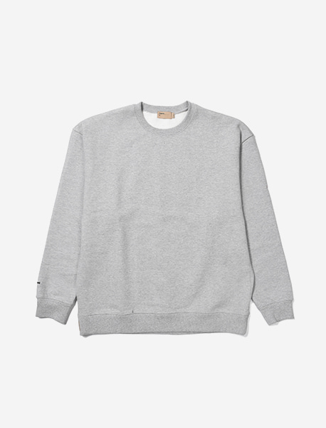 NGRD HEAVY CREWNECK - GREY brownbreath