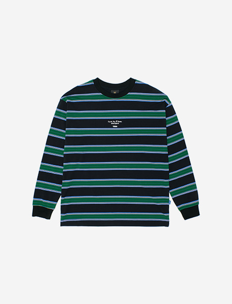 SOLVE STRIPE LONGSLEEVE - BLACK brownbreath