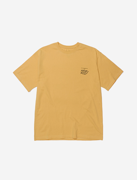 MESS TEE - YELLOW brownbreath