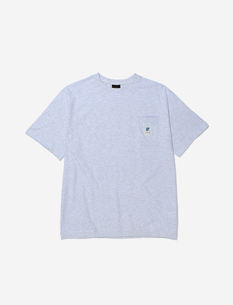 RB POCKET TEE - ASH brownbreath
