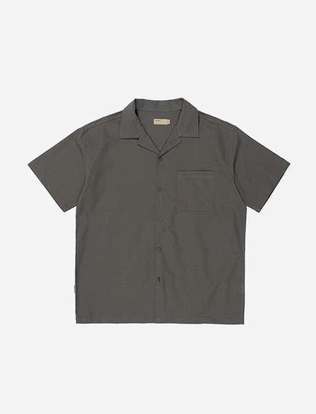 NGRD OPEN COLLOR SHIRTS - CHARCOAL brownbreath