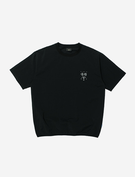JEONPA NYLON TEE - BLACK brownbreath