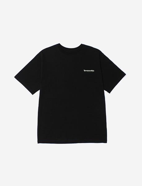 RESPONSIBLE TEE - BLACK brownbreath