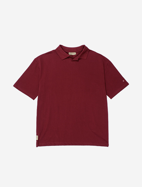 NGRD PIQUE SHIRTS - BURGUNDY brownbreath