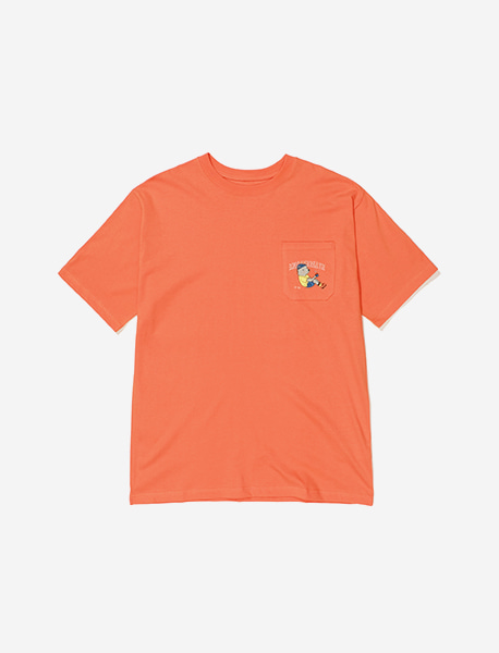 BXC POCKET TEE - ORANGE brownbreath