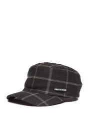 SPREAD CHECK CAP GU - Black brownbreath