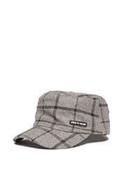 SPREAD CHECK CAP GU - Grey brownbreath
