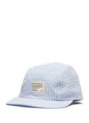 SEERSUCKER CAMP CAP - S.BLUE brownbreath