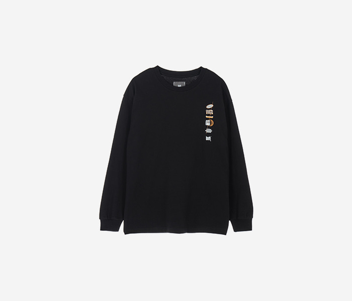 GREEEEED LONGSLEEVE - BLACK brownbreath