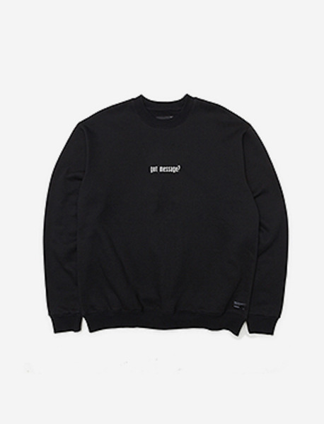 GOT MESSAGE CREWNECK - BLACK brownbreath