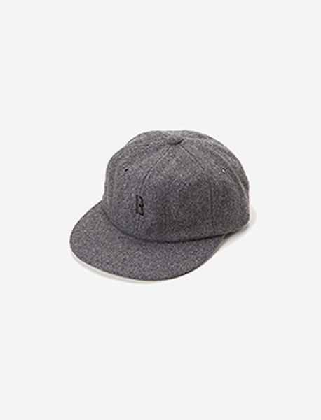 B WOOL 6PANNEL CAP - GREY brownbreath