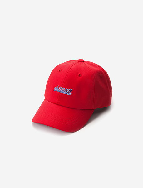 CHIIIIILL CURVED CAP - RED brownbreath