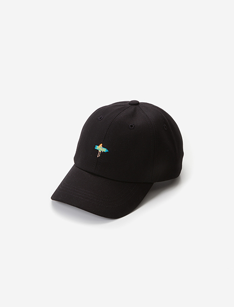 SURF CURVED CAP - BLACK brownbreath