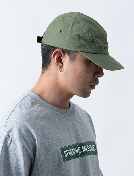CHOOSE RIPSTOP CAMP CAP - KHAKI brownbreath