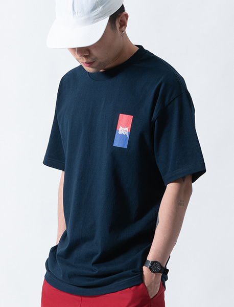 GGGR TEE - NAVY brownbreath