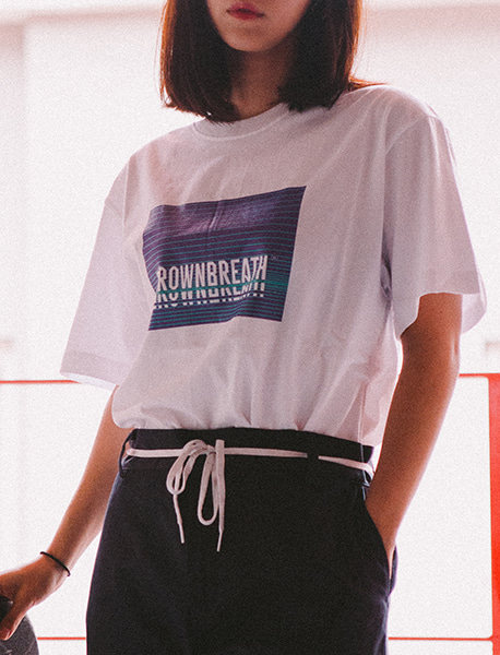BOX LOGO TEE - WHITE brownbreath