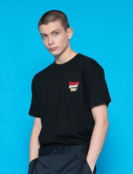 DGL WORD TEE - BLACK brownbreath