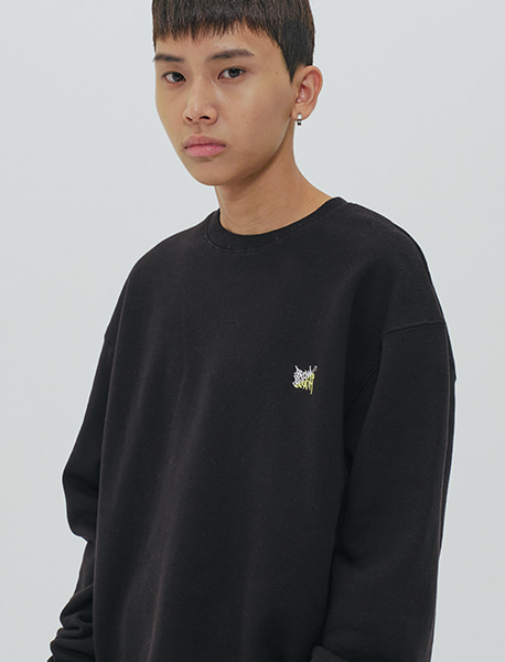 TAG CREWNECK - BLACK brownbreath