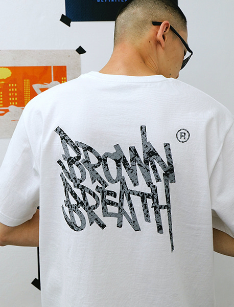 SNAKE TAG TEE - WHITE brownbreath