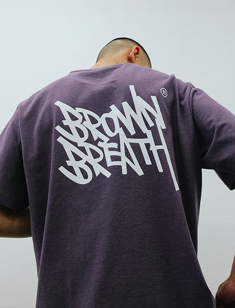 TAG 20 TEE - PURPLE brownbreath
