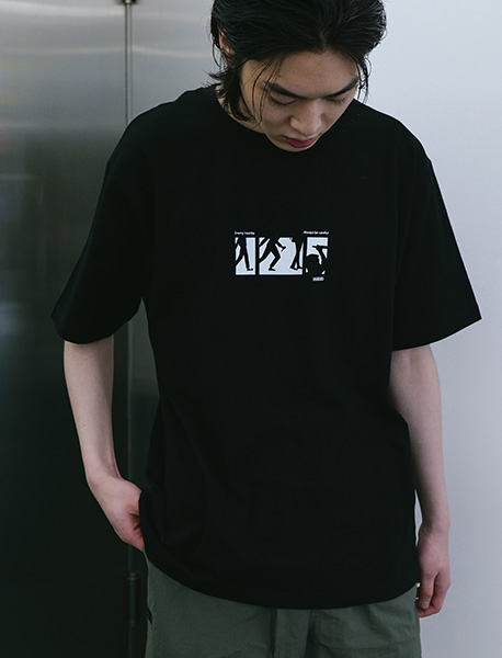 NEARBY TEE - BLACK brownbreath
