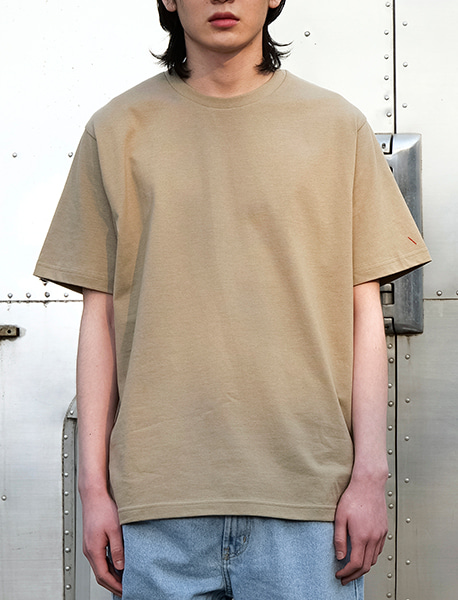 NOGREED BASIC T - BEIGE brownbreath