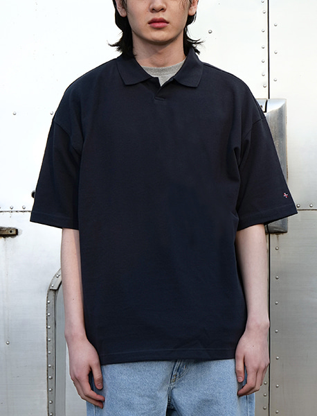 NGRD PIQUE SHIRTS - NAVY brownbreath