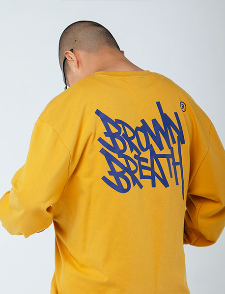 TAG 20 LONG SLEEVE - MUSTARD brownbreath