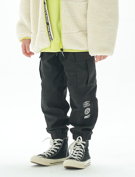 [KIDS] TAG CARGO PANTS - 2 colors brownbreath