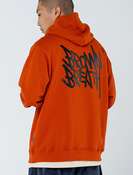 TAG LAF HOODIE - ORANGE brownbreath