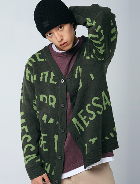 STM CARDIGAN - KHAKI brownbreath