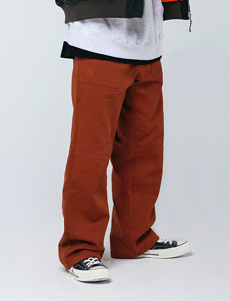 B CHINO PANTS - ORANGE brownbreath