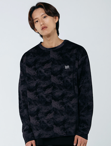 TAG PATTERN LONGSLEEVE - BLACK brownbreath