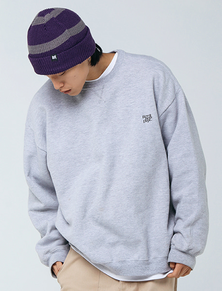 BB DEPT CREWNECK - GREY brownbreath