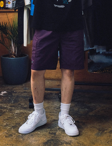 SPRD POCKET SHORTS - PURPLE brownbreath
